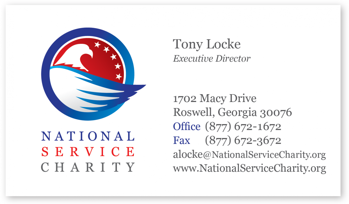 National Service Charity Business Card